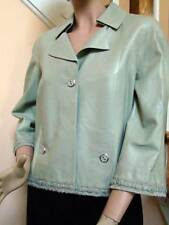 CHANEL NWT 08P Spring 2008 Mint Green Lamb Leather Jacket 38