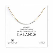 Dogeared Sterling Silver Balance Adjustable Natural Waxed Cotton Cord Necklace
