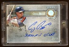 2013 FIVE STAR CRAIG BIGGIO QUOTABLE AUTO /10 *3000 HIT CLUB*  AUTOGRAPH  MINT