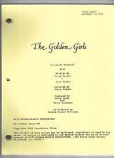 """THE GOLDEN GIRLS script """"A Little Romance"""""""