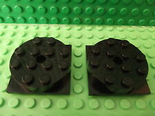 2 Lego Black Turntable 4 x 4 Square Base & Top Assembly Spare Part 3403c01 S030