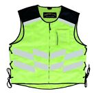 Motorbike Motorcycle High-Vis vest bright reflective waist coat cycle clothing