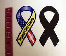 "Lot of 100 Pieces - Support Our Troops Patriotic 8"" Ribbon Magnet"