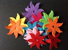 Felt flowers Mixed Colour Embellishments 33mm 25pcs