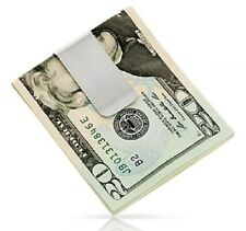 NEW STAINLESS STEEL SILVER SLIM POCKET MONEY CLIP HOLDER USA SELLER