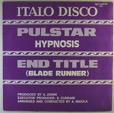 """12"""" Maxi - Hypnosis - Pulstar / End Title (Blade Runner) - L5449h - zyx records"""