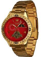 Minoir Uhren - Modell Amalfi gold/rot Automatikuhr Herrenuhr