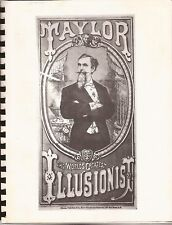 A FEW MOMENTS FROM THE CAREER OF PROF. E. COOPER TAYLOR 1852-1927 Illusionist