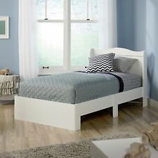 sauder 416546 soft white twin platform bed with headboard ebay