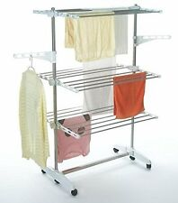 TODECO - CLOTHES AIRER - 3 TIER FOLDABLE LAUNDRY DRYING RACK CLOTHING DRYER NEW