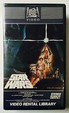 Star Wars 1982 First Original Release VHS - with Matching Numbers (eb2)