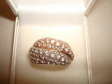 14ct Rose & White Gold  Diamonique Statement Ring QVC Size P