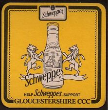 SCHWEPPES - GLOUCESTERSHIRE COUNTY CRICKET CLUB (CCC)  COASTER OK16039