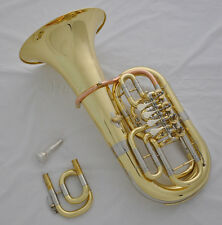 "Professional Gold C/Bb 4 key Rotary valve Euphonium horn 11.6"" bell with case"