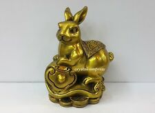 Feng Shui - 2017 Brass Rabbit on Ruyi Figurine