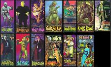 Set of all 13 1960s AURORA Universal Presents Monster models fridge magnets new!