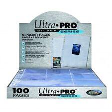 ESPOSITORE 100 PAGINE TRASPARENTI Silver 9 TASCHE Mtg Magic Ultra Pro