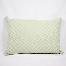 "Hudson Park 800 TC 100% Egyptian Cotton 12"" x 18"" Decorative Pillow Green A489"