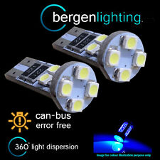 2x W5w T10 501 Canbus Error Free Azul 8 Led sidelight Laterales Bombillos sl101605