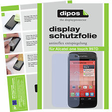 1x Alcatel One Touch 997D Schutzfolie matt Displayschutzfolie Folie Antireflex