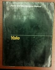 Yale MP/MPB 040 AC Fork Lift Truck Parts and Maintenance Manual