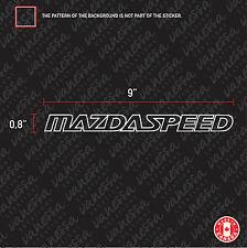 2x MAZDASPEED MAZDA SPEED sticker vinyl car decal white