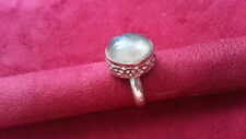 Beautiful Flourite Gem Heavy Solid Ring 925 Sterling Silver *Size 5.5 *63X