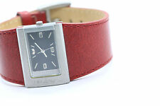 VESTAL WOMENS  WATCH RED  LEATHER BAND MODEL ETTA New Battery
