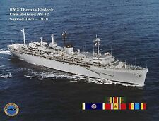 USS HOLLAND AS 32 Personalized Canvas Print * 8.5 X 11
