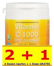 Premium VITAMIN C 1000mg VEGAN Bioflavonoid TIME RELEASED 100Tab Made in Germany