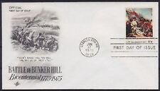 Estados unidos FDC 1174, Vandersanden. Charlestown 1975, Battle of Bunker Hill, First Day cover