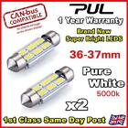 2x White 6 NEW 5630 SMD LED ERROR FREE CANBUS 239 272 C5W NUMBER PLATE BULB 36mm