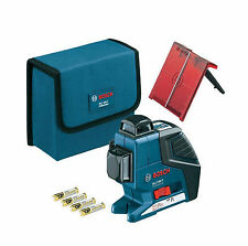 Bosch GLL 3-80P Professional 3-Plane Line Laser Level 360 Degree Multi Crossline
