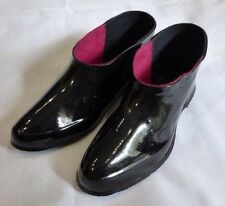 Russian Galoshes Lacquered Rubber Black Boots Mens  EU42 US10