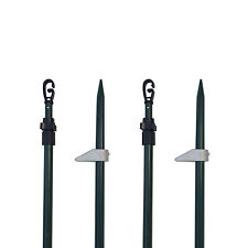 4 x Hide Poles Set with Free Bag Solid Foot Pegs for Pigeon Shooting Hide Net