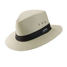 PANAMA JACK ORIGINAL * WHITE FEDORA HAT XXL * NEW MENS TOP TOYO STRAW SAFARI SUN