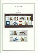 CANADA 2006  LIGHTHOUSE page 2006.11 - ENDANGERED SPECIES  M/sheet & Pairs  MNH