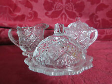 Westmoreland  Glass Child's , Lidded Sugar,creamer, Butter/ Cheese