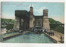 Lift Lock Peterborough Ontario Canada Vintage Postcard US006