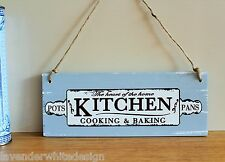 The Specialisit Martin Wiscombe Shabby Chic Vintage Style Kitchen Sign in Blue