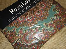 """RALPH LAUREN EMERSON PAISLEY TWIN FITTED SHEET 200TC GREEN GOLD RED BLUE 14"""""""