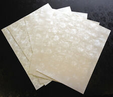 20 A4 PAPER PALE IVORY TAPESTRY BRODERIE DESIGN 120GSM MATCHES OUR POCKETFOLDS