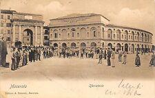 4889) MACERATA FOLLA DAVANTI ALLO SFERISTERIO. VIAGGIATA NEL 1903.
