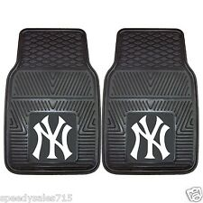 PAIR MLB New York Yankees Front Vinyl Heavy Duty Car Mats New Free Shipping