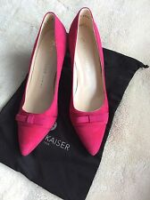 NEW Peter Kaiser Vermala Suede Court Shoes Pink UK 4.5 EU 37.5 RRP £125
