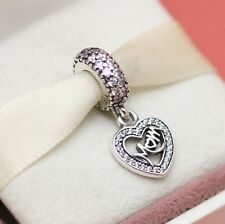 *Authentic Pandora Center Of My Heart 791521CZ Mom Mother Valentine w Gift Pouch