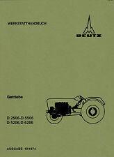 Werkstatthandbuch für Deutz-Getriebe der 06 Baureihe.