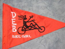 Custom MARTY'S TRIKE Safety flag for recumbent trike, bicycle, pole, whip