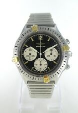 BREITLING WATCH STAINLESS STEEL BULLET BAND CHRONO AUTOMATIC BLACK DIAL CALLISTO