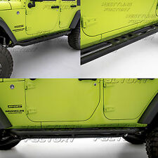 07-17 Jeep JK Wrangler Black Textured Armor Rocker Sliders Tube Running Board